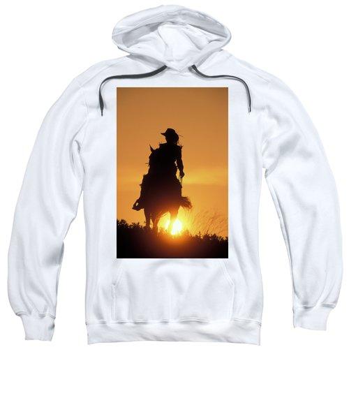 Riding Cowgirl Sunset Sweatshirt