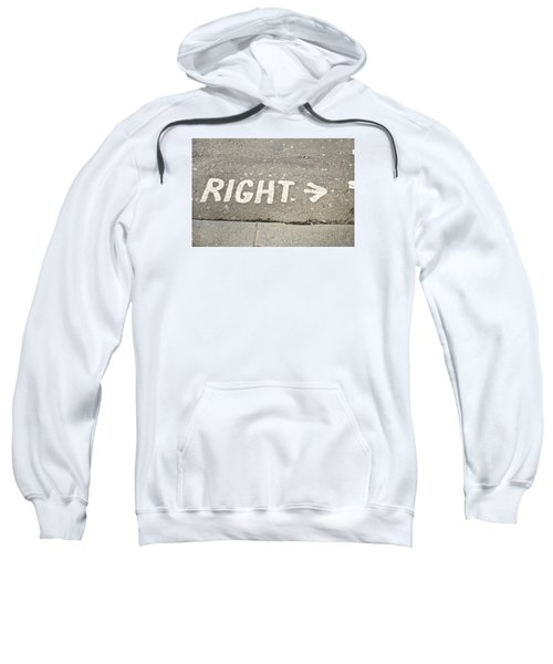 Right Sign Sweatshirt