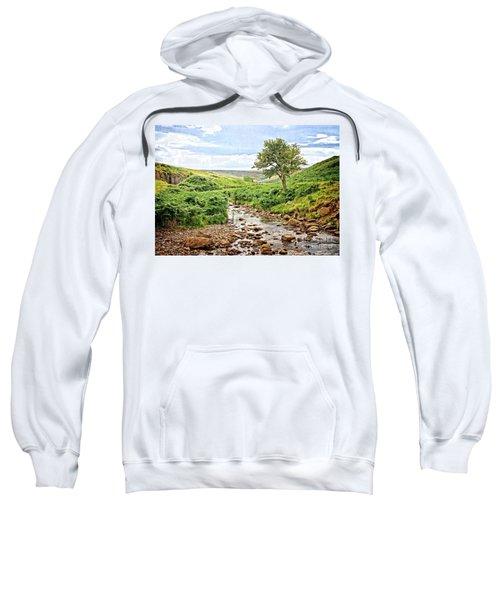 River And Stream In Weardale Sweatshirt