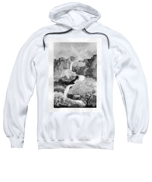 Sweatshirt featuring the painting Riviere Celeste by Marc Philippe Joly