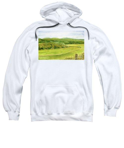 Road Through Vermont Field Sweatshirt
