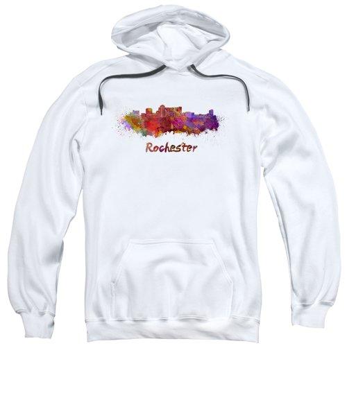 Rochester Mn Skyline In Watercolor Sweatshirt