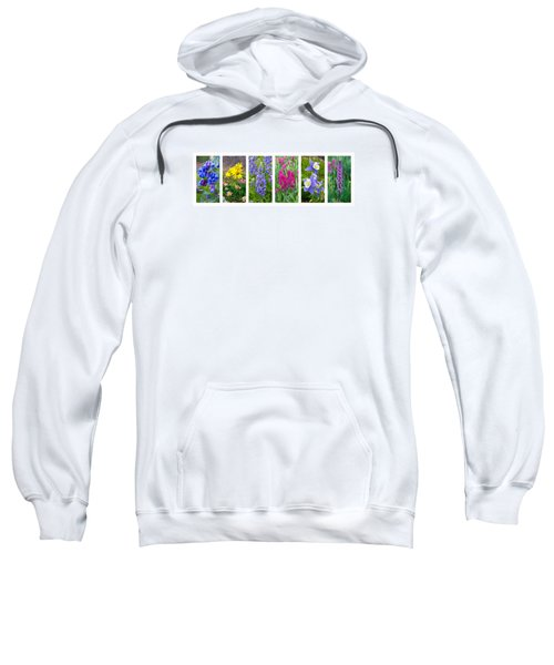 Sweatshirt featuring the photograph Rocky Mountain Wildflower Collection by Aaron Spong