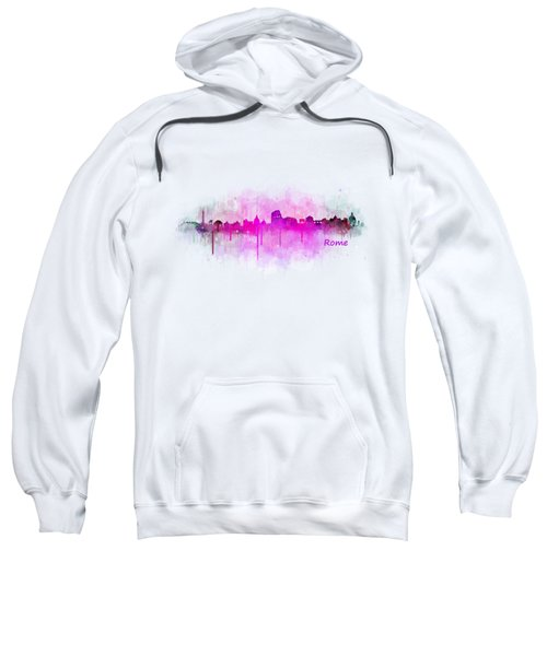 Rome City Skyline Hq V05 Pink Sweatshirt