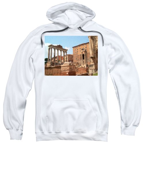 Rome The Eternal City And Temples Sweatshirt
