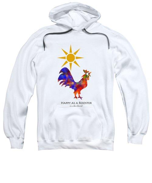 Rooster Pattern Art Sweatshirt