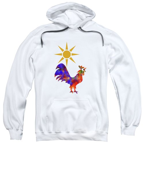 Rooster Pattern Sweatshirt by Christina Rollo