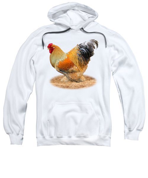 Rooster Side On White Sweatshirt