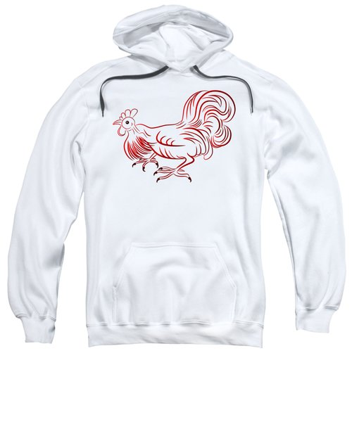 Rooster - Sign Of Chinese New Year Sweatshirt by Michal Boubin