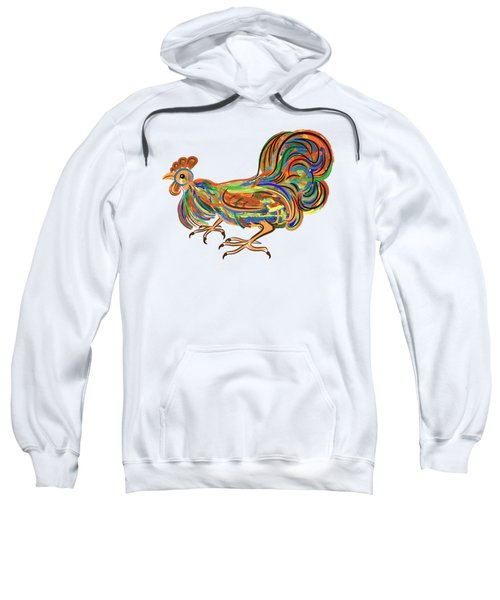 Rooster- Symbol Of Chinese New Year Sweatshirt by Michal Boubin