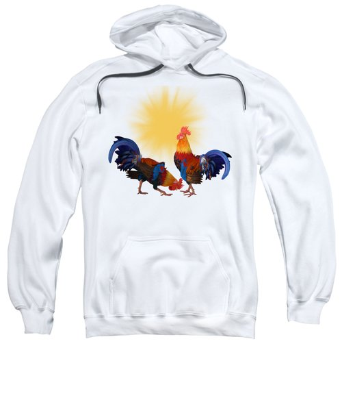 Roosters And Sun Sweatshirt