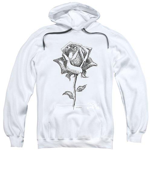 Rose Drawings Black-white 5 Sweatshirt