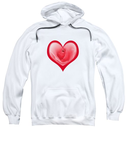 Rose Heart T-shirt And Print By Kaye Menner Sweatshirt by Kaye Menner