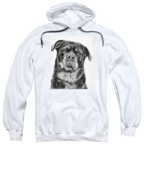 Rottweiler Drawing Titled Mama Sweatshirt