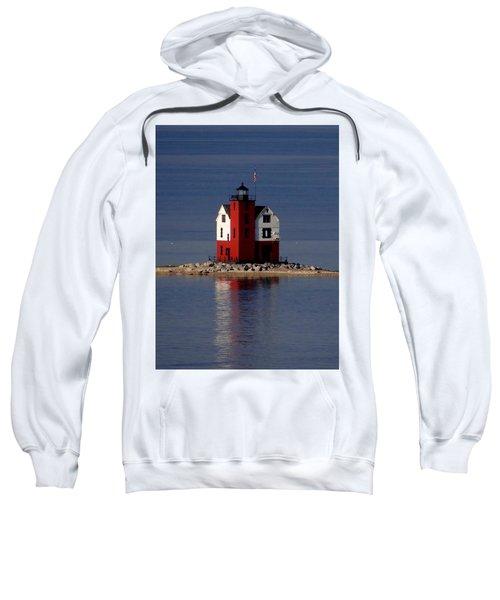 Round Island Lighthouse In The Morning Sweatshirt