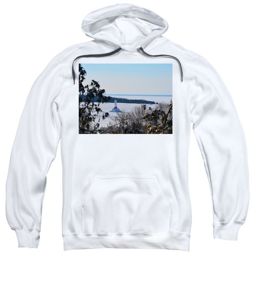 Round Island Passage Light Through The Trees Sweatshirt
