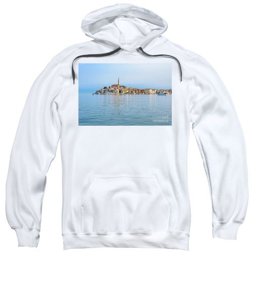 Rovinj In The Early Morning Fog, Istria, Croatia Sweatshirt