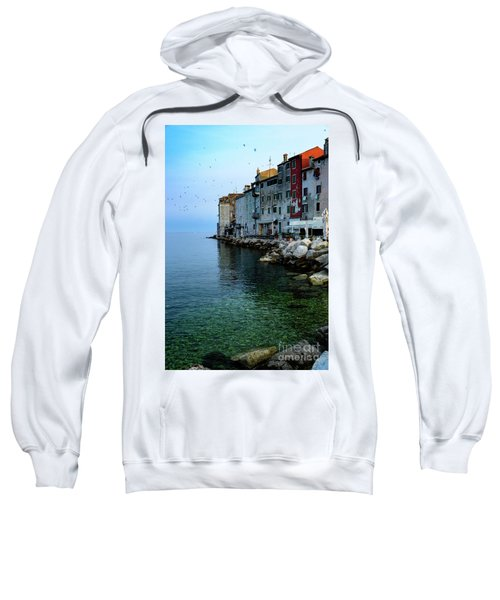 Rovinj Venetian Buildings And Adriatic Sea, Istria, Croatia Sweatshirt