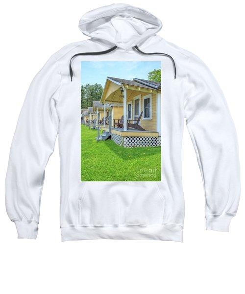 Row Of Vintage Yellow Rental Cottages Sweatshirt