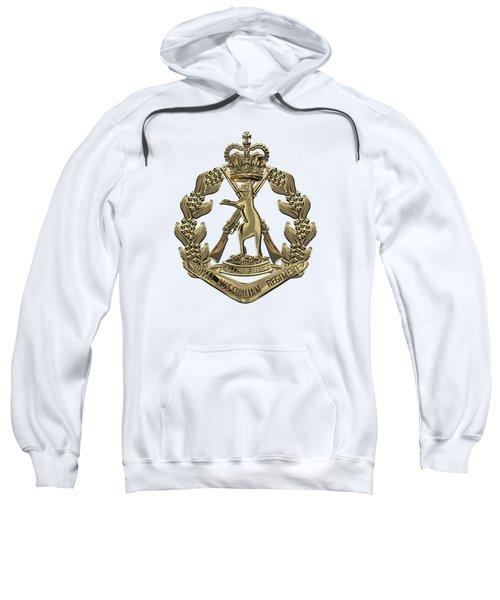 Royal Australian Regiment   -  R A R  Badge Over White Leather Sweatshirt