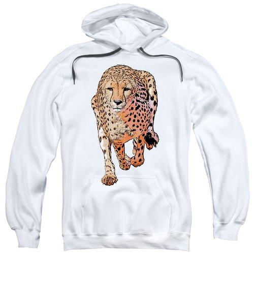 Running Cheetah Cartoonized #1 Sweatshirt