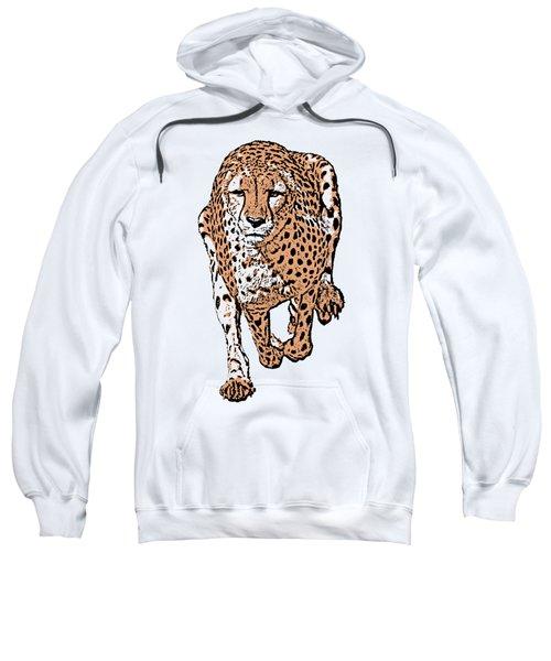 Running Cheetah Cartoonized #2 Sweatshirt