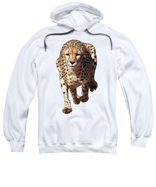 Running Cheetah Cartoonized #3 Sweatshirt