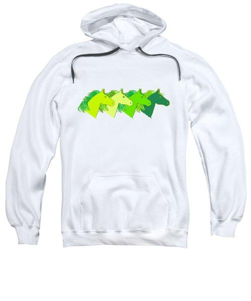 Running Horse Lime Sweatshirt by Alexsan