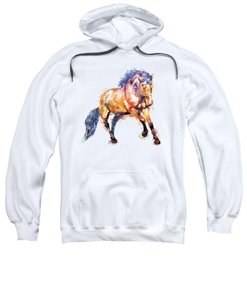 Running Horse Sweatshirt by Marian Voicu