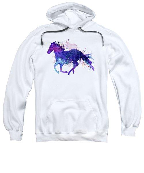 Running Horse Watercolor Silhouette Sweatshirt