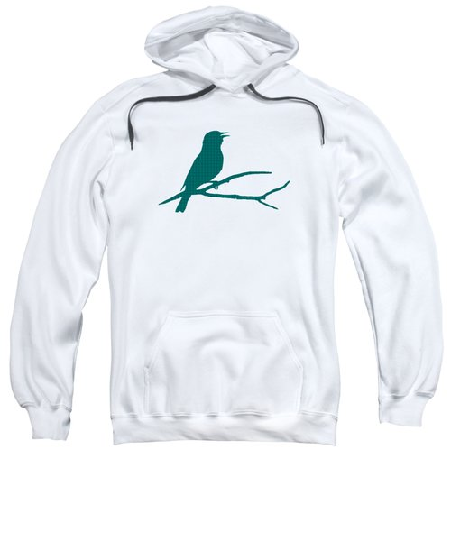 Rustic Green Bird Silhouette Sweatshirt by Christina Rollo