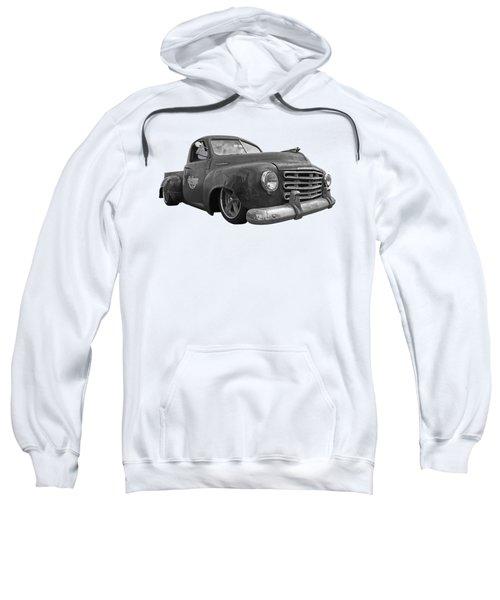 Rusty Studebaker In Black And White Sweatshirt