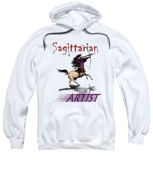 Sagittarian Artist Sweatshirt by Joseph Juvenal