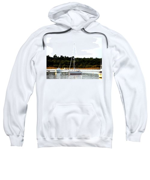 Sail Boat At Anchor  Sweatshirt