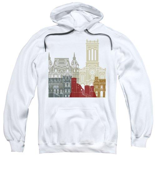 Saint Etienne Skyline Poster Sweatshirt