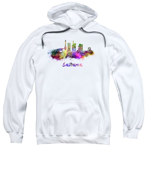 Saitama Skyline In Watercolor Sweatshirt