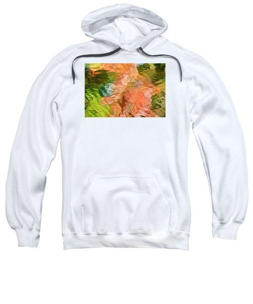 Salmon Mosaic Abstract Sweatshirt