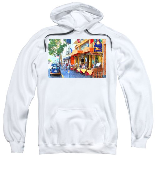 San Francisco North Beach Outdoor Dining Sweatshirt