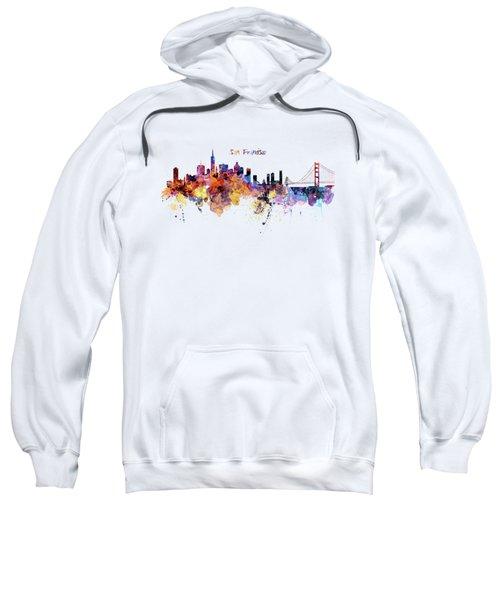 San Francisco Watercolor Skyline Sweatshirt