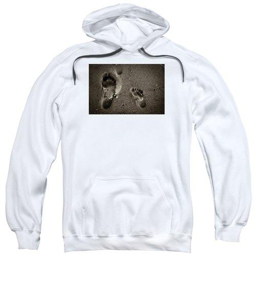 Sweatshirt featuring the photograph Sand Feet by Lora Lee Chapman