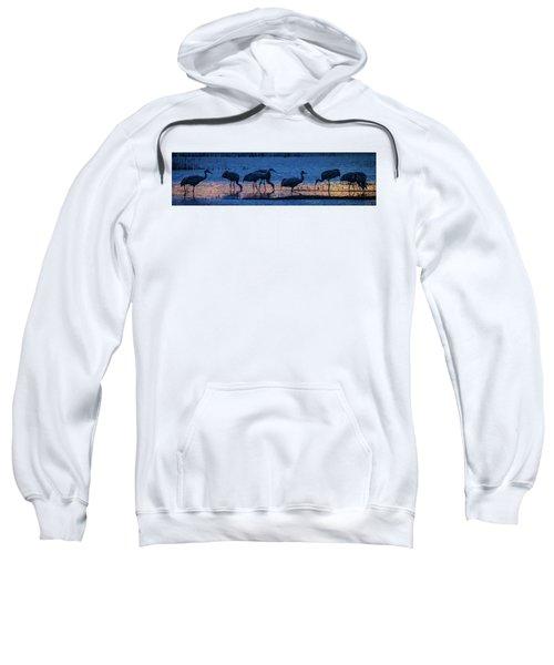 Sandhill Cranes At Twilight Sweatshirt