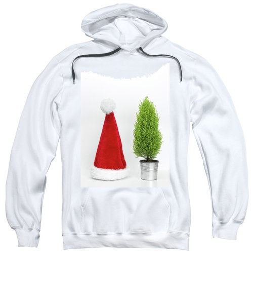 Santa Hat And Little Christmas Tree Sweatshirt