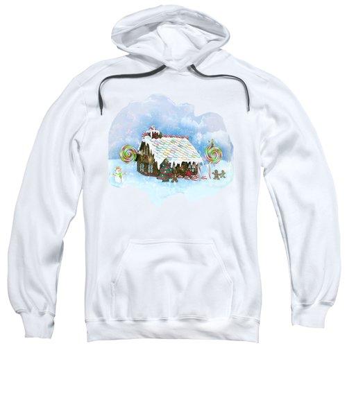 Santa Loves Cookies Sweatshirt by Methune Hively