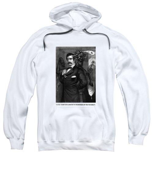 Satan Tempting John Wilkes Booth Sweatshirt