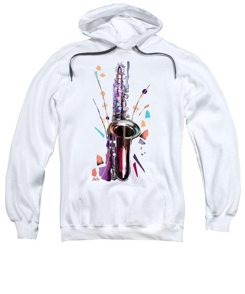Saxophone Sweatshirt by Melanie D
