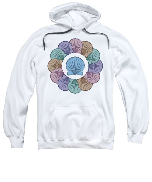 Scallop Shells Circle Multi Color Sweatshirt