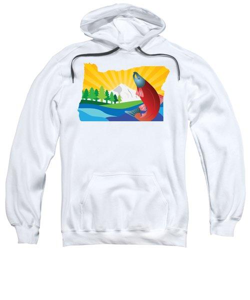 Scenic State Of Oregon Map Sweatshirt
