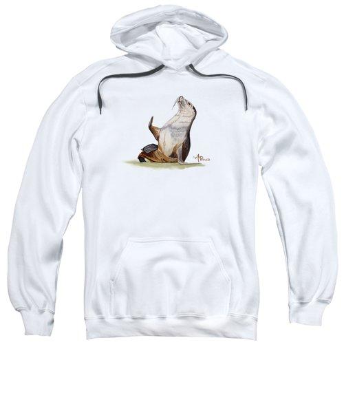 Sea Lion Watercolor II Sweatshirt