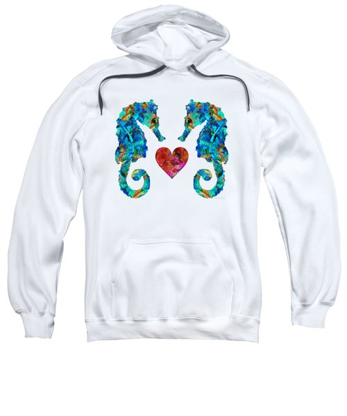 Sea Lovers - Seahorse Beach Art By Sharon Cummings Sweatshirt