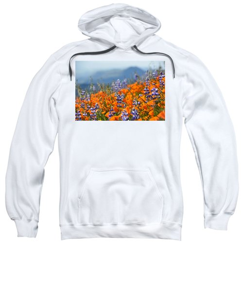 Sea Of California Wildflowers Sweatshirt